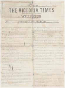 Victoria Times (NZ, 1841)